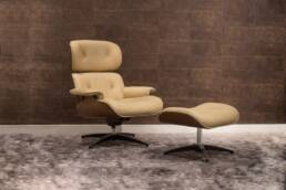 1970s Charles Eames Armchair and Ottoman for Vitra