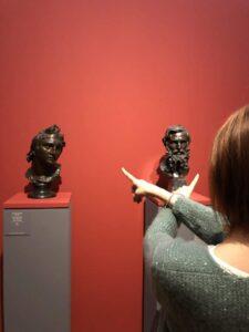 Busti in bronzo Filosofo e Alessandro
