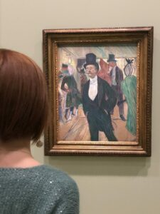 Oil on paper Monsieur Fourcade byToulouse Lautrec