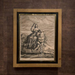 17th Century Black Gold Framed Engraving by Hugo Allard