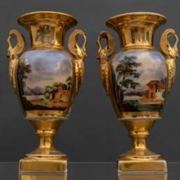 Coppia Vasi in Porcellana Impero Parigi