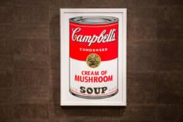 Campbell's Soup sérigraphie originale certifié