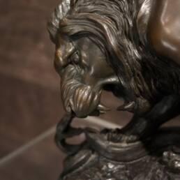 détail tête du lion Antoine-Louis Bayre