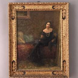 Tableau Portrait de Femme Signé Franco Ferraresi