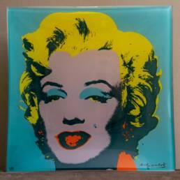 Piatto Quadrato Vetro con Marilyn di Andy Warhol Rosenthal Studio Line