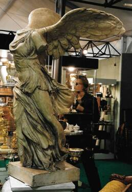 The Winged Victory of Samothrace in our booth