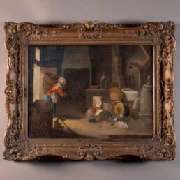 Ancien Tableau Cornelis Dusart Peinture Flamande