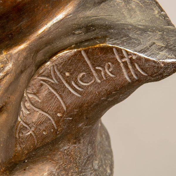 Particolare Scultura in Bronzo Firmata Francesco Paolo Michetti