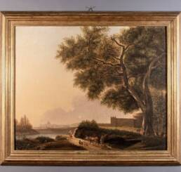 Quadro Antico Campagna Romana Attribuito Hendrick Frans van Lint