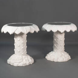 Modern Signed Ceramic Pair of Coffee Tables Vivai del Sud