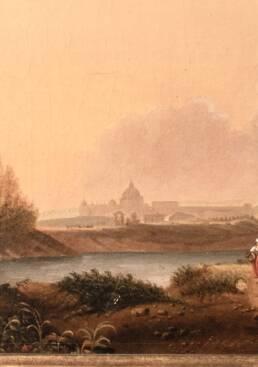 Campagna Romana Antico Quadro Attribuito Hendrick Frans van Lint