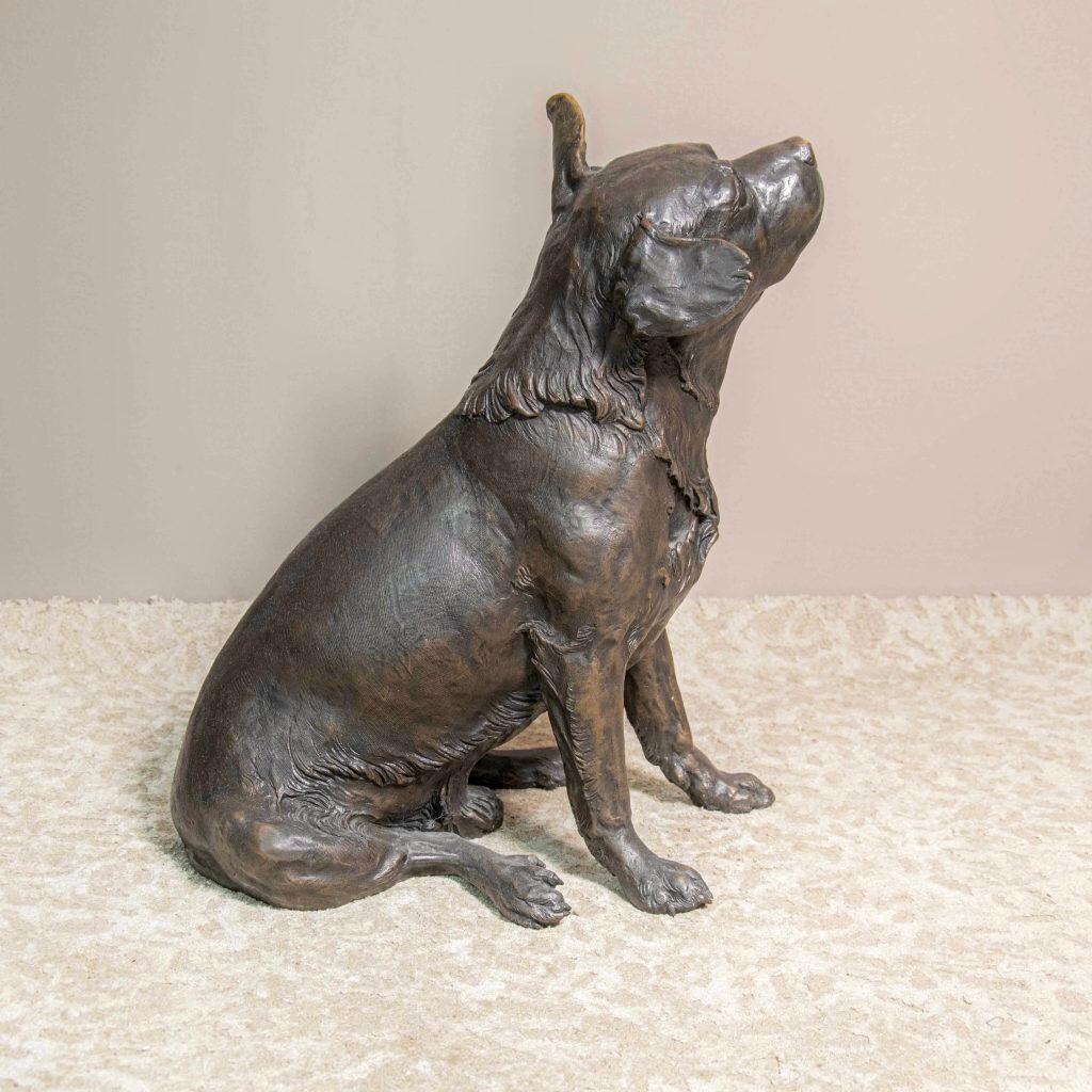 Sculpture Animalier en Bronze Signée Canins