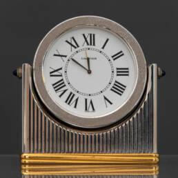 Pendulette Must de Cartier en Acier Chromée