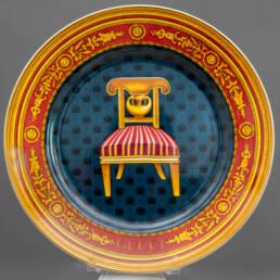 Assiette en Porcelaine Gucci Années 80