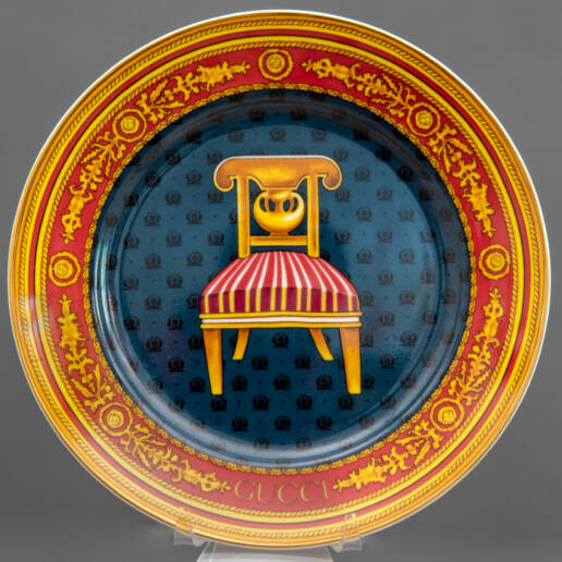Vintage Gucci Chair Collection Italian Plate