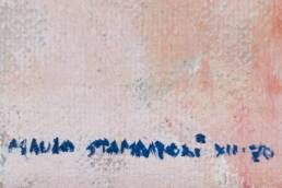 Détail Signature Tableau Moderne Signé Mauro Stampatori