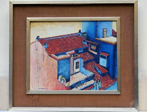 Modern Painting Signed by Stampatori