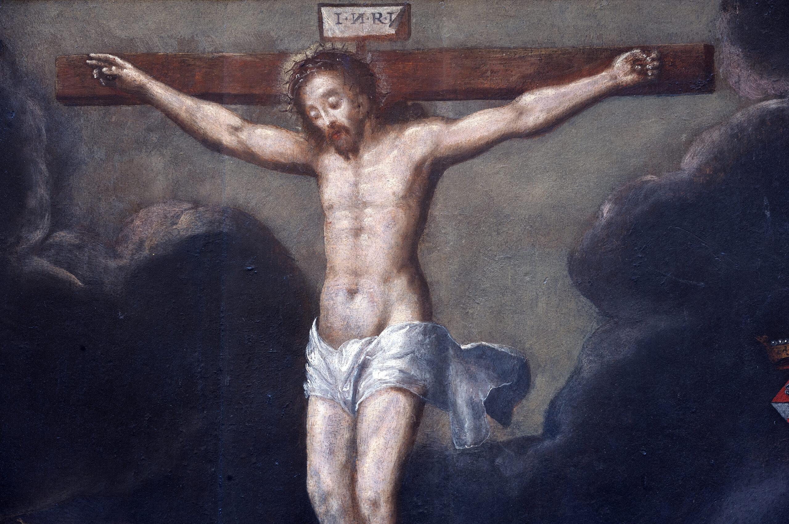 Tableau Ancien Crucifixion Gillis Congnet