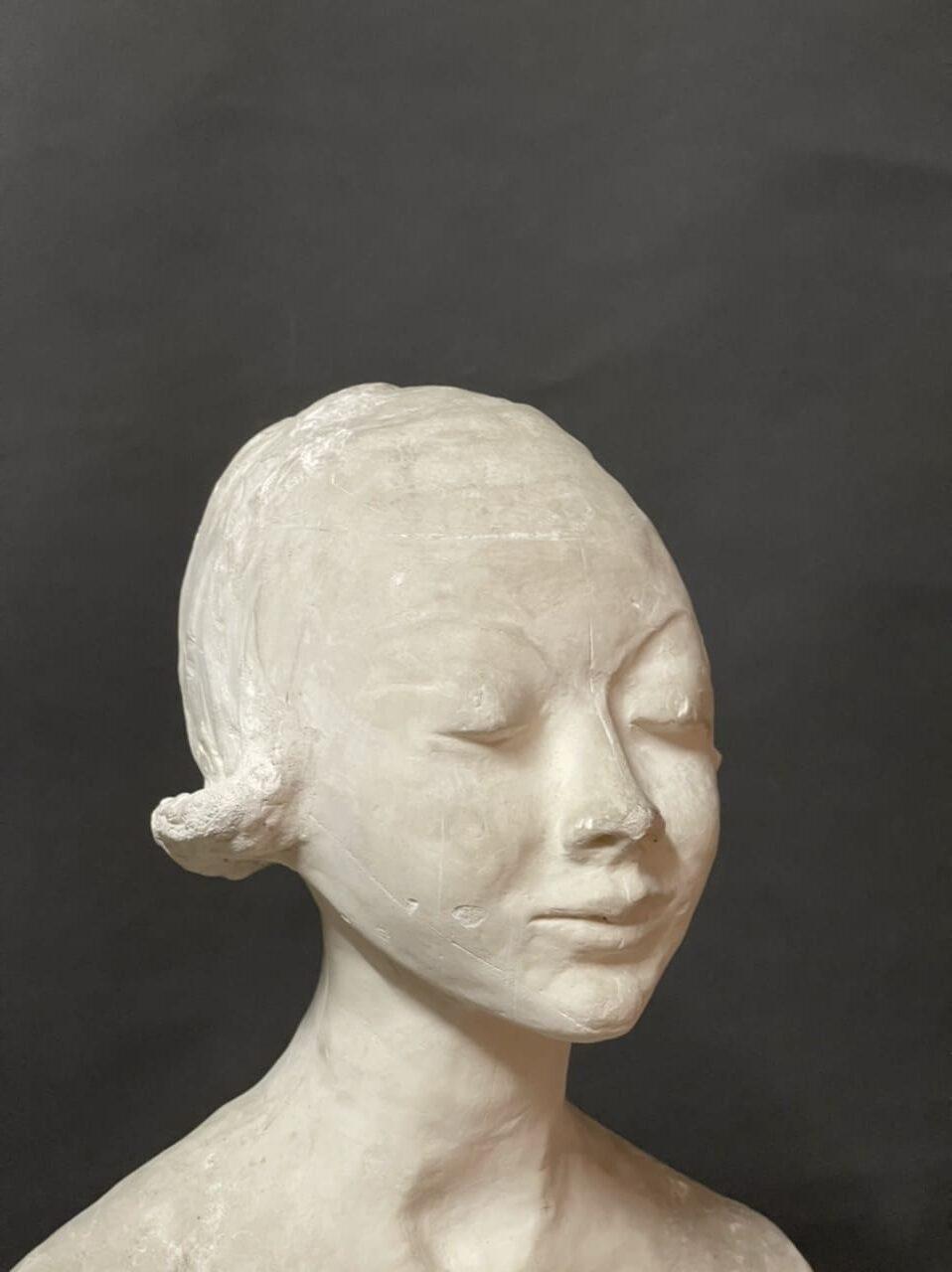 Scultura Busto di Donna in Gesso Ida Fuà