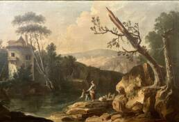Old Master Landscape by Louis-Philippe Crepin d'Orleans