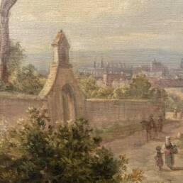 Vibrant View of Rome from the Grand Tour by Jakob Alt