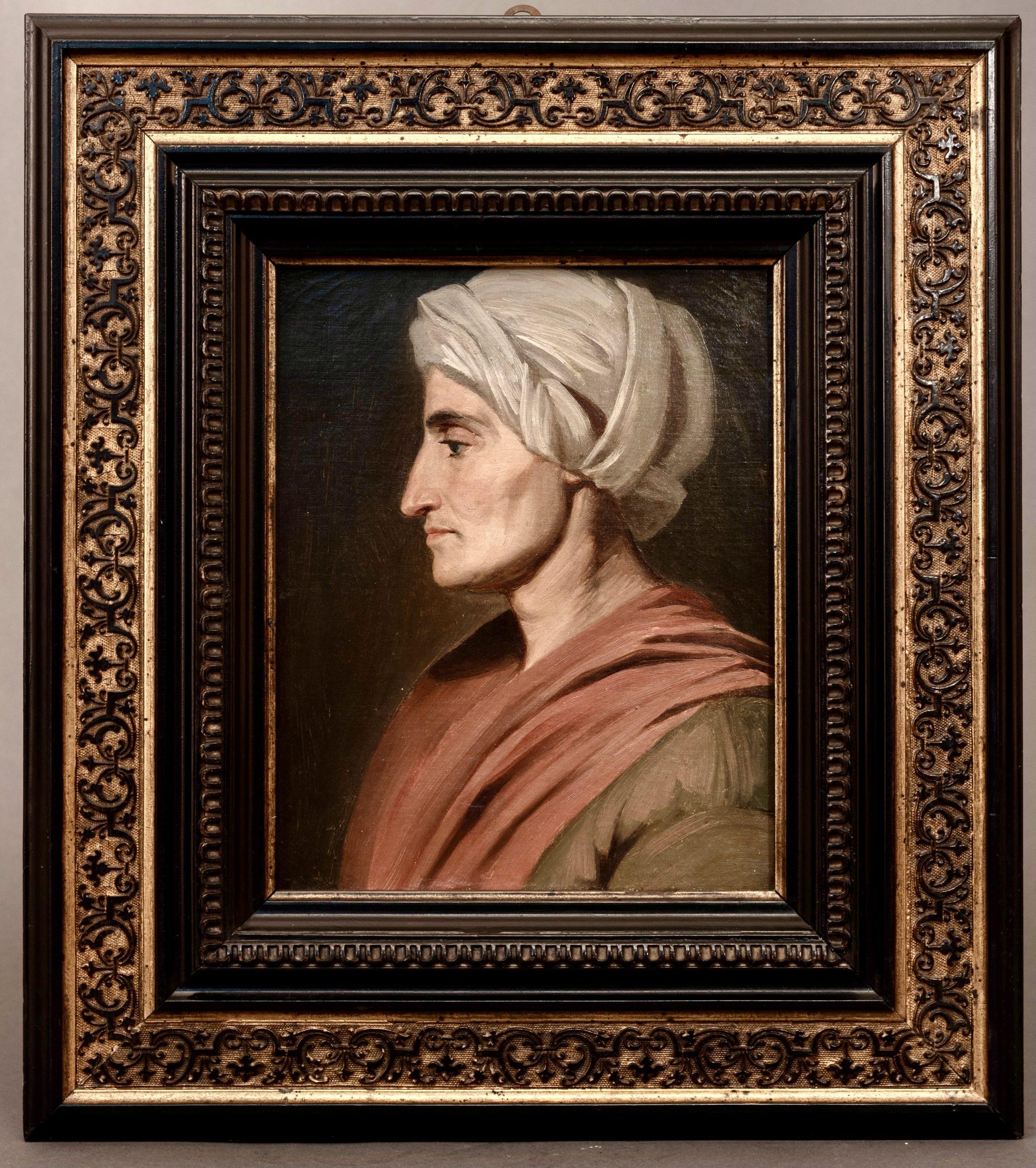 Portrait d'un homme du Moyen-Orient avec turban